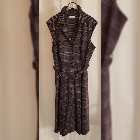 Calvin Klein Dresses & Skirts - Calvin Klein black and white plaid dress size 14